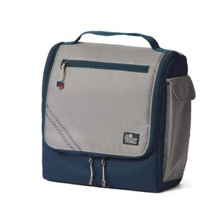 SailorBags Silver Spinnaker Soft Vegan U-zippered opening Lunch Box
