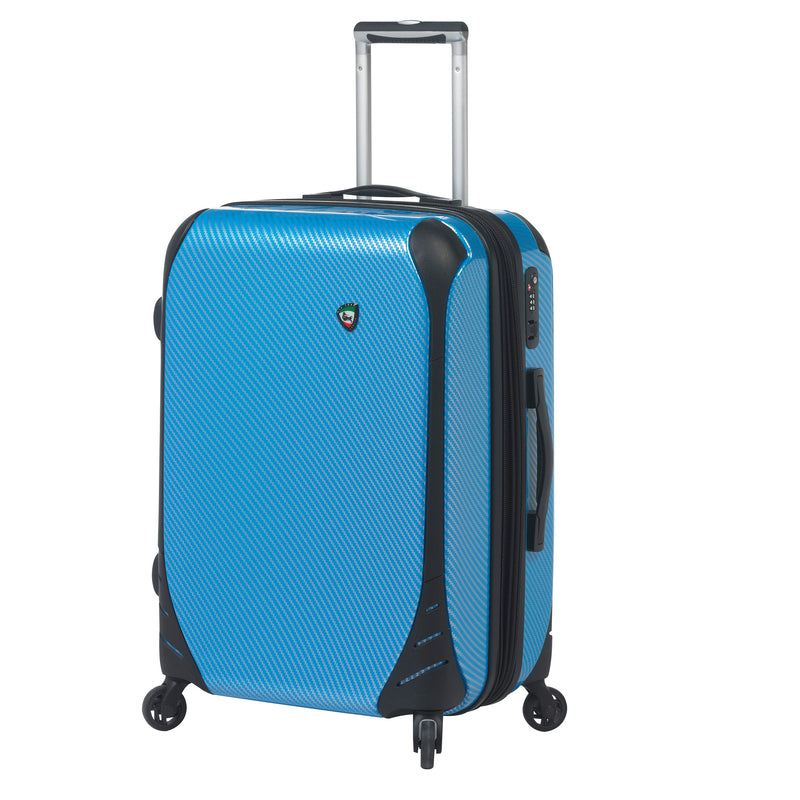 Mia Toro ITALY Fibre di Carbonio Largo Hardside Spinner Luggage 3PC Set - Strong Suitcases-Vegan Luggage
