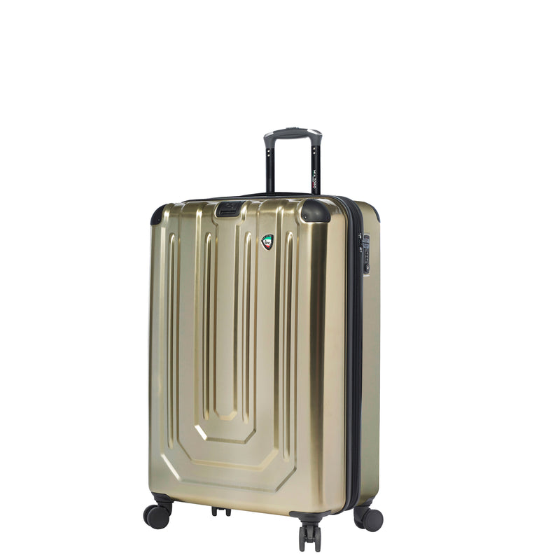 Mia Toro ITALY Alluminio Polish Hardside Spinner Luggage 3PC Set - Strong Suitcases-Vegan Luggage