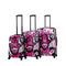 Mia Toro ITALIA Limited Edition Hamsa Love Monochrome Hard Side Spinner Luggage 3PC Set - Strong Suitcases-Vegan Luggage