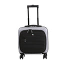 "Mia Toro ITALY MIO Spazzolato 14"" Hardside Spinner Under seat Companion Bag - Strong Suitcases-Vegan Luggage"