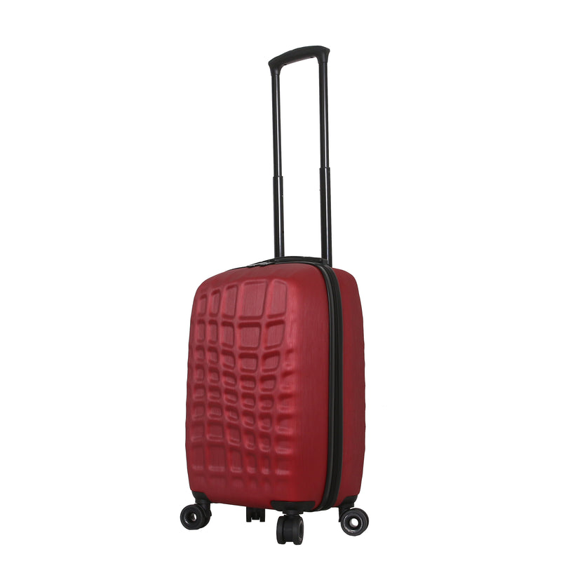 Mia Toro ITALY Abstract Croco Hardside Spinner Luggage 3PC Set - Strong Suitcases-Vegan Luggage