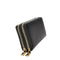 Mechaly Women's Nancy Black Vegan Leather Double Zipper Wallet