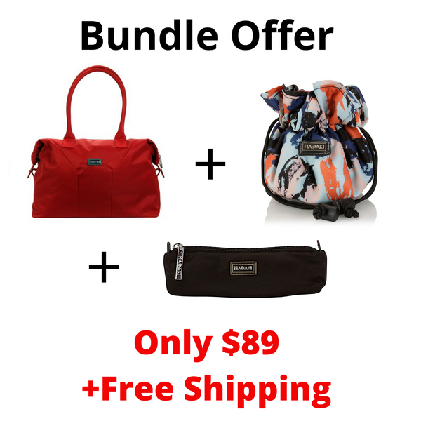 Bundle Offer Hadaki Satchel Handbag+Travel Jewelry Sack+Brush Pouch