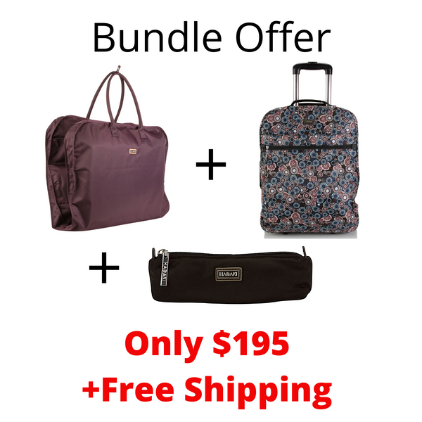 "Bundle Offer Hadaki 18"" Carry on+Garment Bag+Brush Pouch"