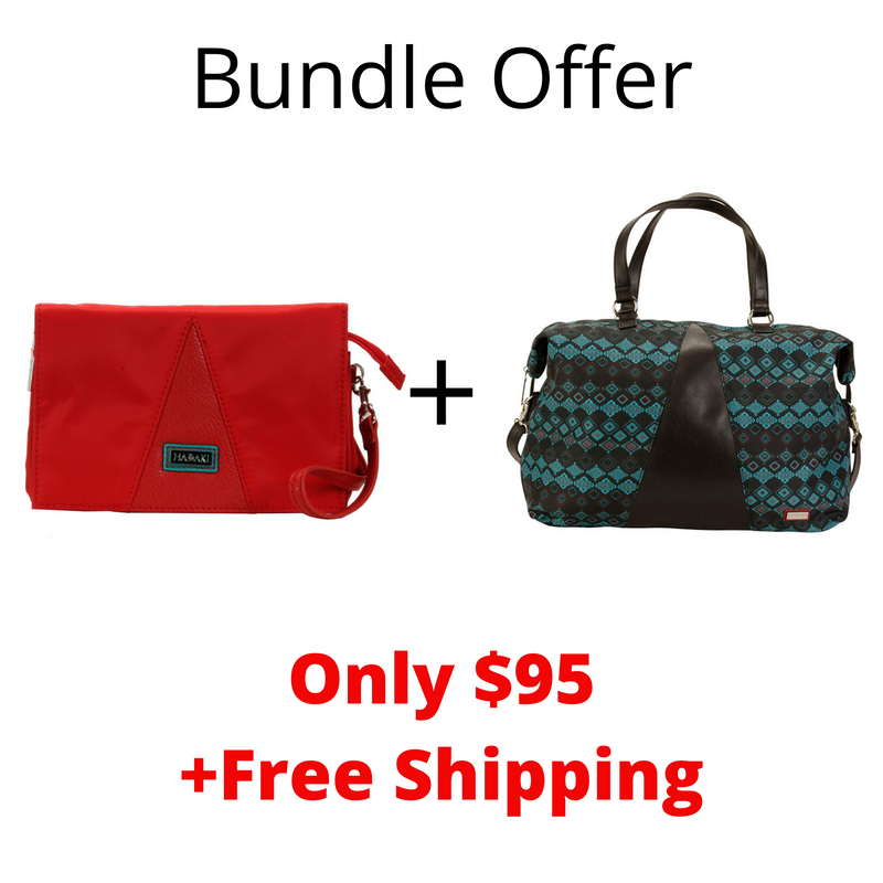 Bundle Offer Hadaki Duffel Travel Bag +Hadaki Travel Eco-Friendly Wallet