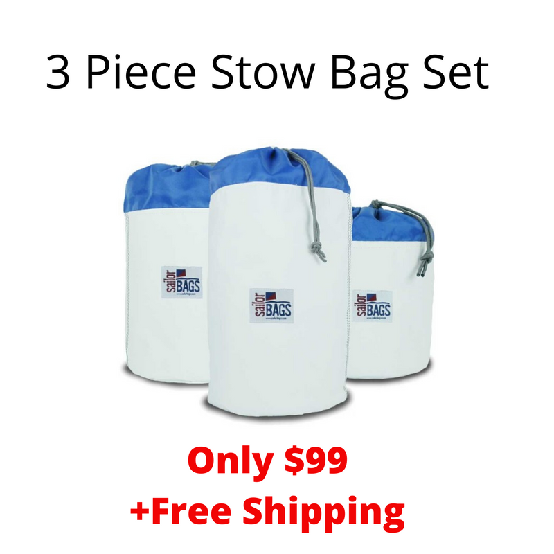 SailorBags Newport 3 Piece Set Stow Bag (XL+L+M)