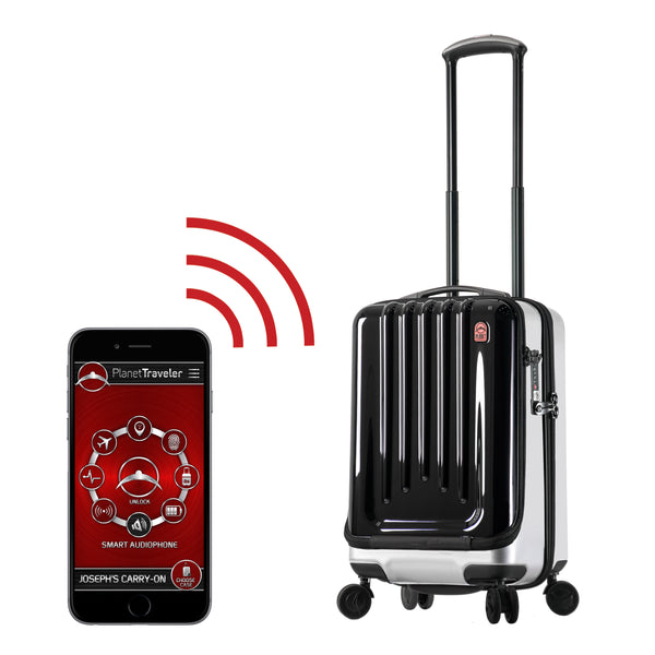 "Planet Traveler USA SC 1 Smart Case Carry on Spinner Luggage 29"" - Strong Suitcases-Vegan Luggage"