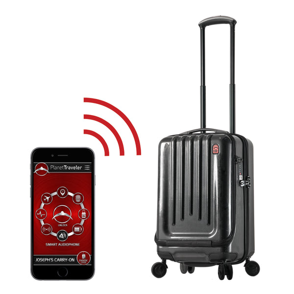 "Planet Traveler USA SC 1 Smart Case Hardside Spinner Carry-On 20"" - Strong Suitcases-Vegan Luggage"