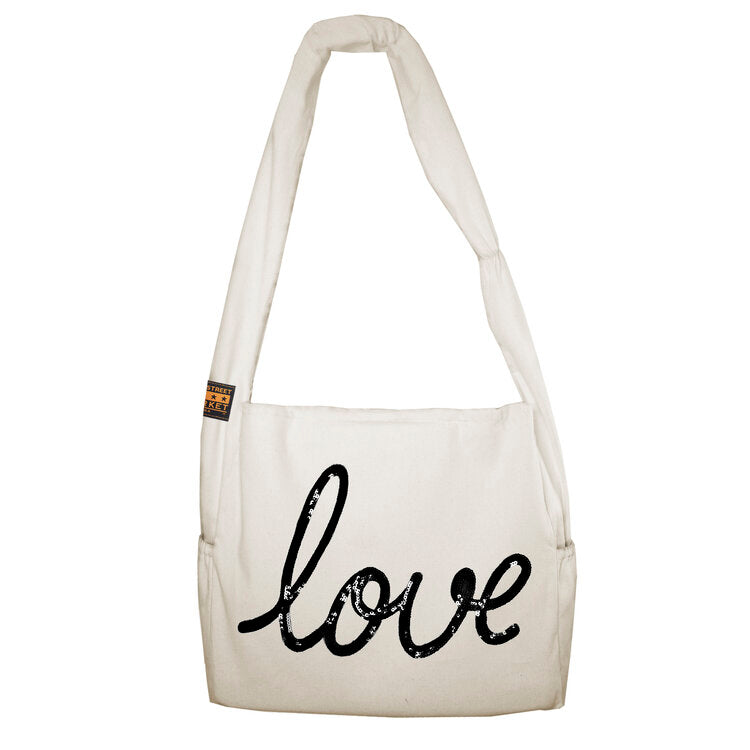 Vine Street Market USA Love Sequin Large Vegan Canvas Tote