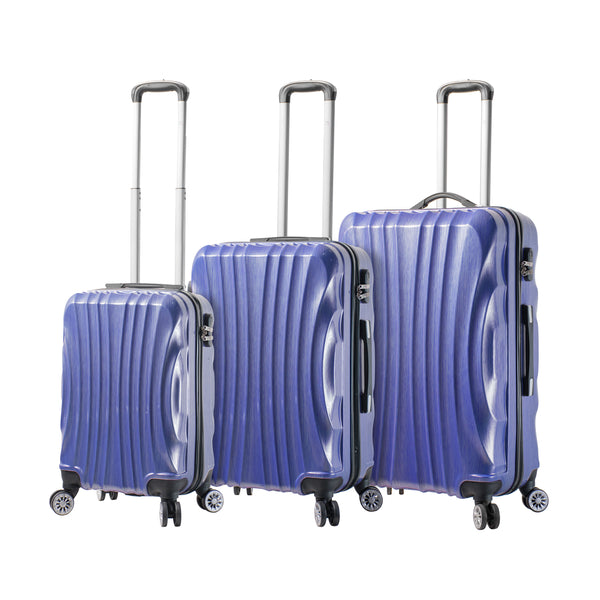 Mia Viaggi Italy Bari Hardside Spinner 3Pc Luggage Set - Strong Suitcases-Vegan Luggage
