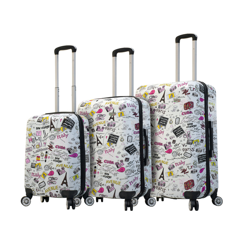 Mia Viaggi Italy Vintage Traveler Hardside Spinner 3Pc Set - Strong Suitcases-Vegan Luggage