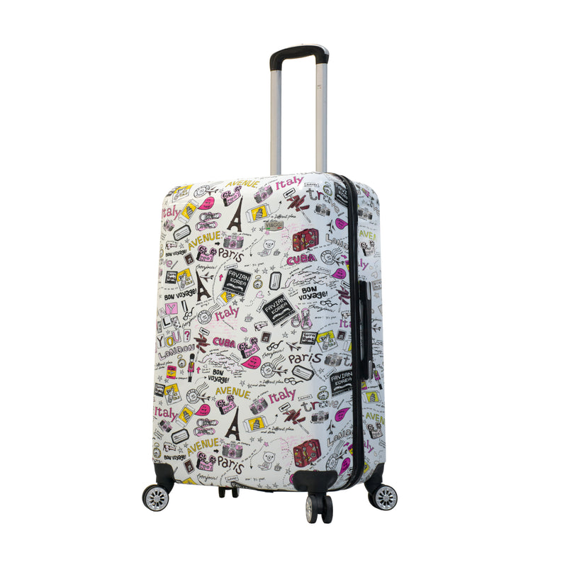 Mia Viaggi Italy Vintage Traveler Hardside 28 Inch Spinner - Strong Suitcases-Vegan Luggage