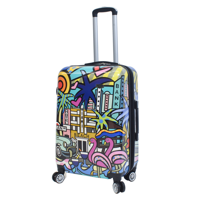 Mia Viaggi Italy Lifestyle Hard side Spinner Luggage 3Pc Set - Strong Suitcases-Vegan Luggage
