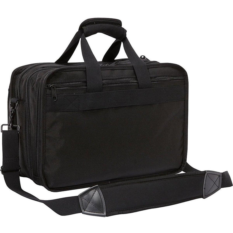 A. Saks Expandable Ballistic Nylon Durable Organizer Briefcase - Strong Suitcases-Vegan Luggage