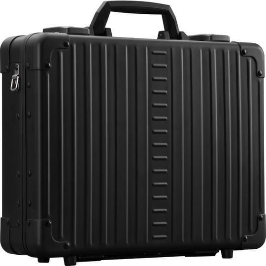"Aleon 17"" Business Attache Aluminum Hardside Business Briefcase - Strong Suitcases-Vegan Luggage"