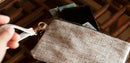 White Rhino Silver Caiman Cork Vegan leather and Eco friendly Wristlet