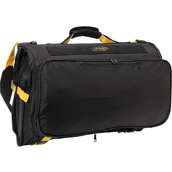 A. Saks Compact Expandable Deluxe Tri-Fold Carry On Garment Bag - Strong Suitcases-Vegan Luggage