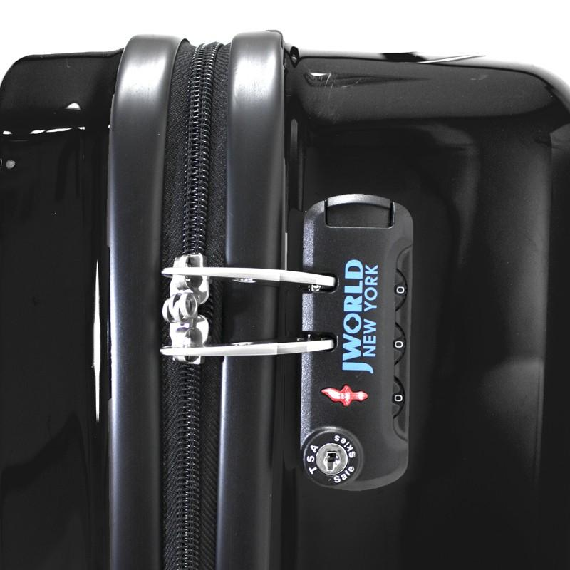 "J World New York 18"" CUE Lightweight Hardside Carry-On+Free Duffel bag - Strong Suitcases-Vegan Luggage"