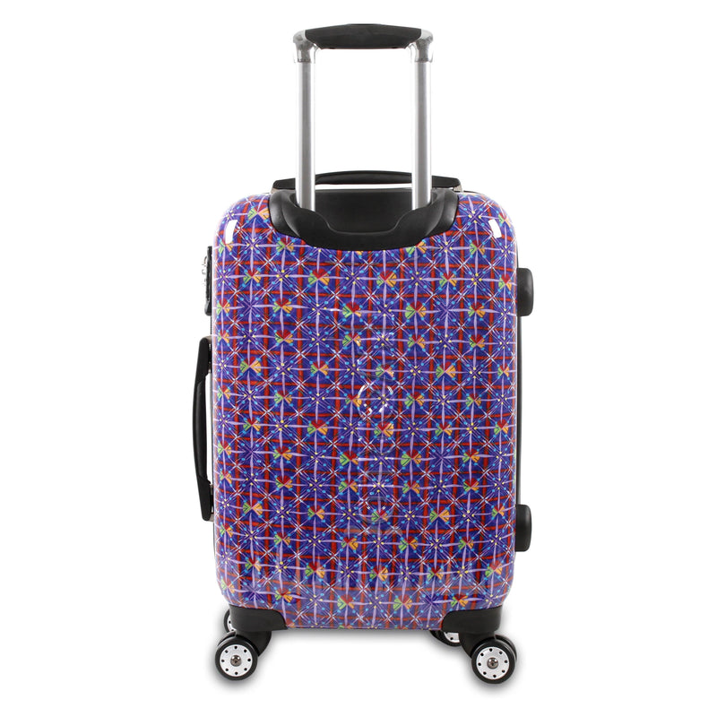 "J World New York TITAN 24"" Expandable Polycarbonate Luggage Carry on ART+Free Bag - Strong Suitcases-Vegan Luggage"