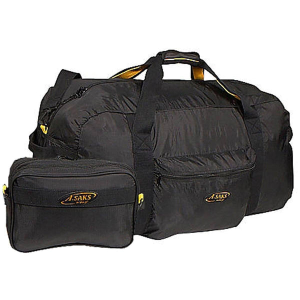 "A. Saks 30"" Travel Lightweight Folding Duffel Bag With Pouch for Clothing and Bulky Items - Strong Suitcases-Vegan Luggage"