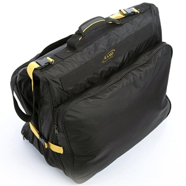 A. Saks Expandable Suit & Dress Travel & Storage Black Garment Bag - Strong Suitcases-Vegan Luggage