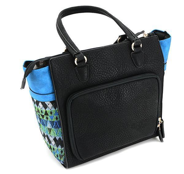 Cameleon Aztecs Vegan Leather Versatile Handbag Clutch Crossbody With CCW Compartment - Strong Suitcases-Vegan Luggage
