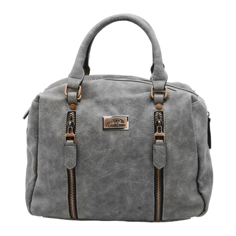 Cameleon Sahara Vegan Leather Handbag Shoulder Bag With CCW Compartment - Strong Suitcases-Vegan Luggage