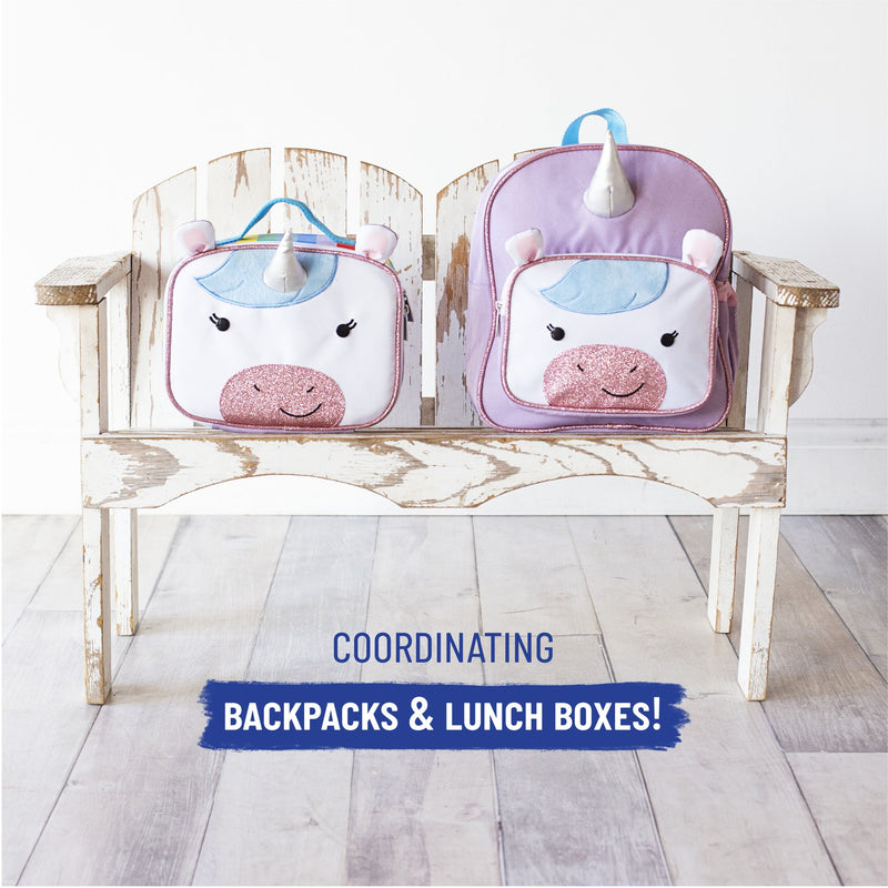 Wildkin Unicorn 3 Piece Set Plush Nap Mat+Lunch Box+Backpack Bundle offer