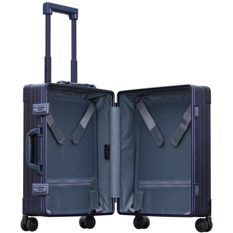 "Aleon 21"" Carry-On  Aluminum Hardside Luggage Free Shipping - Strong Suitcases-Vegan Luggage"