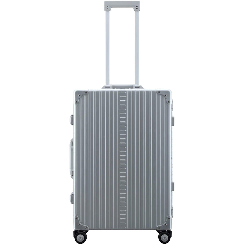 "Aleon 26"" Traveler with Suiter Aluminum Hardside Luggage (Platinum) Silver Free Shipping - Strong Suitcases-Vegan Luggage"