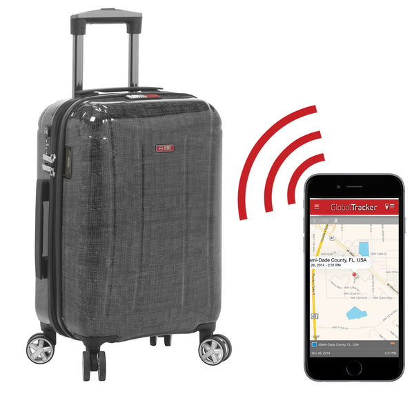"Planet Traveler USA Smart Tech Case Hardside Spinner Carry-On 19"" - Strong Suitcases-Vegan Luggage"