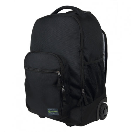 "Ecogear Rolling Dhole 15"" laptop Water Resistant Backpack+Free Bottle - Strong Suitcases-Vegan Luggage"