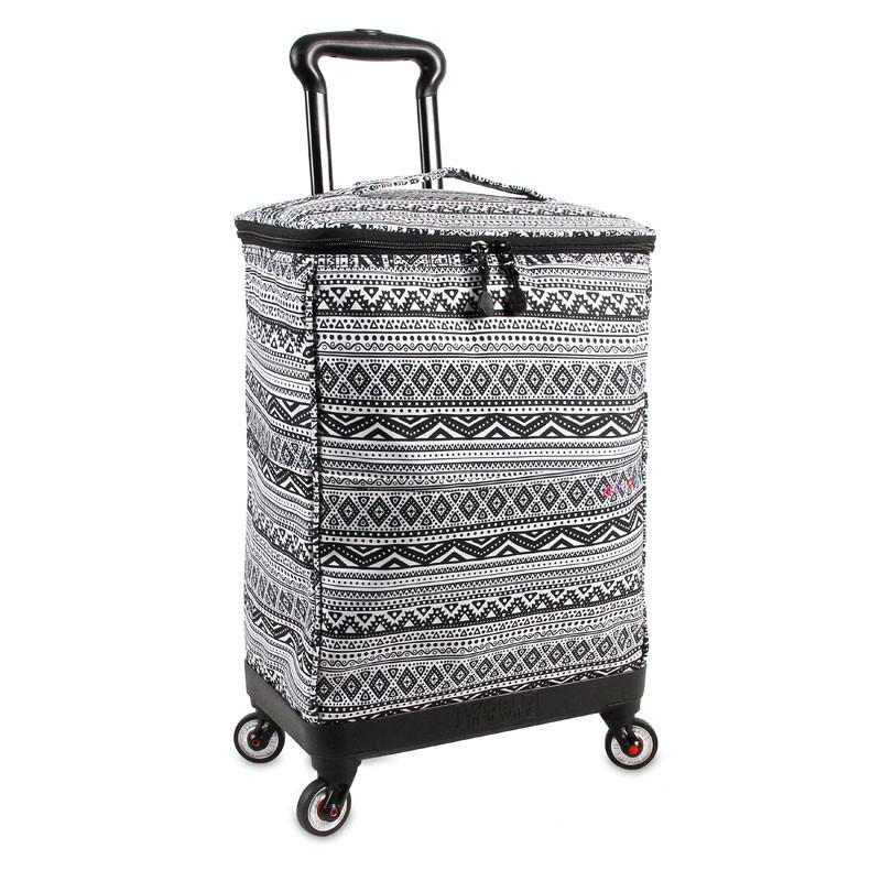J World New York Shopper Rolling Tote Bag With 4 Spinner Wheels +Free Bag - Strong Suitcases-Vegan Luggage