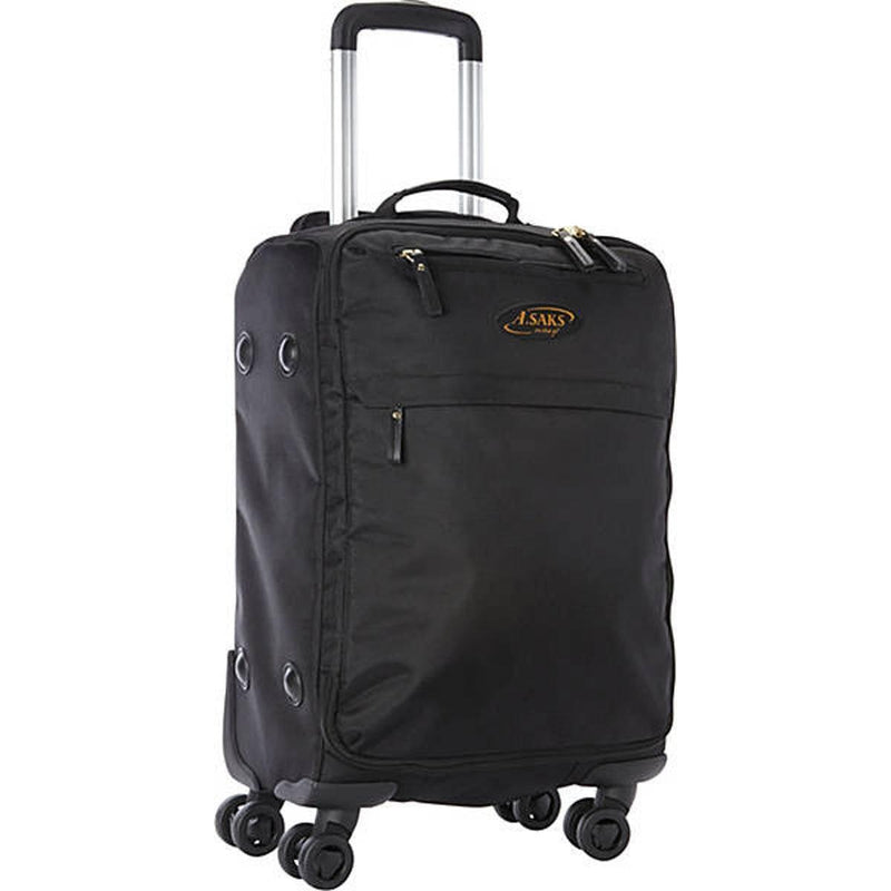 "A. Saks 22"" Lightweight Spinner Carry- On Dual spinner wheels - Strong Suitcases-Vegan Luggage"