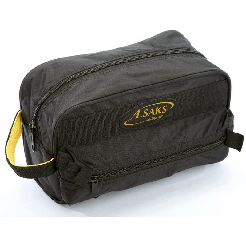 A. Saks Waterproof Lightweight Nylon Travel Essentials Deluxe Toiletry Kit - Strong Suitcases-Vegan Luggage