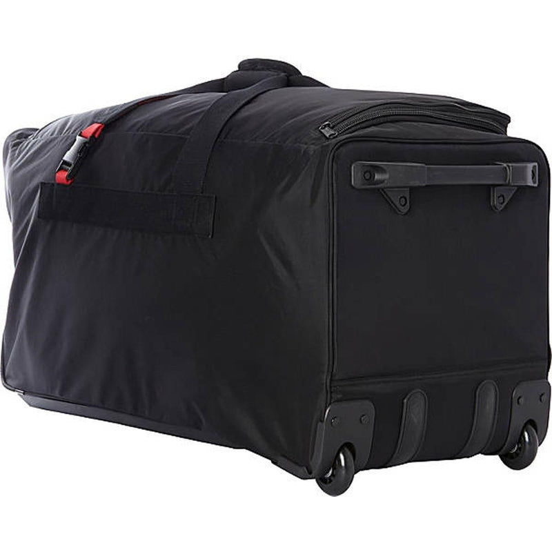 "A. Saks Expandable Large 31"" Wheeled Trolley Duffel - Strong Suitcases-Vegan Luggage"