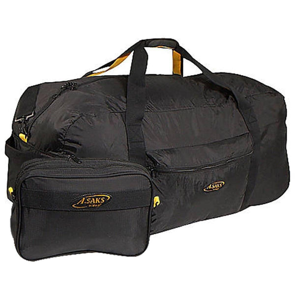 "A. Saks XL 36"" Long Lightweight Folding Duffel Bag With Pouch - Strong Suitcases-Vegan Luggage"