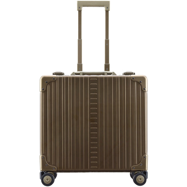 "Aleon 17"" Deluxe Rolling Wheeled Aluminum Hardside Business Briefcase Free Shipping - Strong Suitcases-Vegan Luggage"