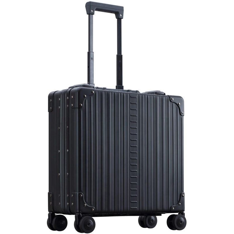 "Aleon 17"" Wheeled Aluminum Hardside Business Briefcase - Strong Suitcases-Vegan Luggage"