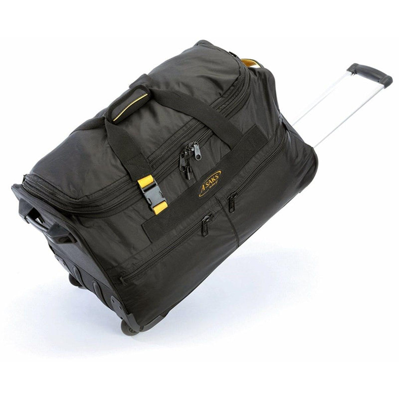 "A. Saks Travel Expandable 420D Nylon Mid-Sized 25"" Wheeled Duffel - Strong Suitcases-Vegan Luggage"
