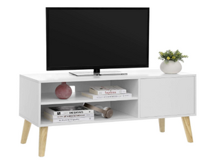 Tv meubel kast met 2 planken wit