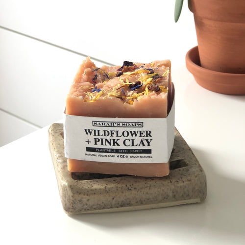 WILDFLOWER + PINK CLAY - bar soap