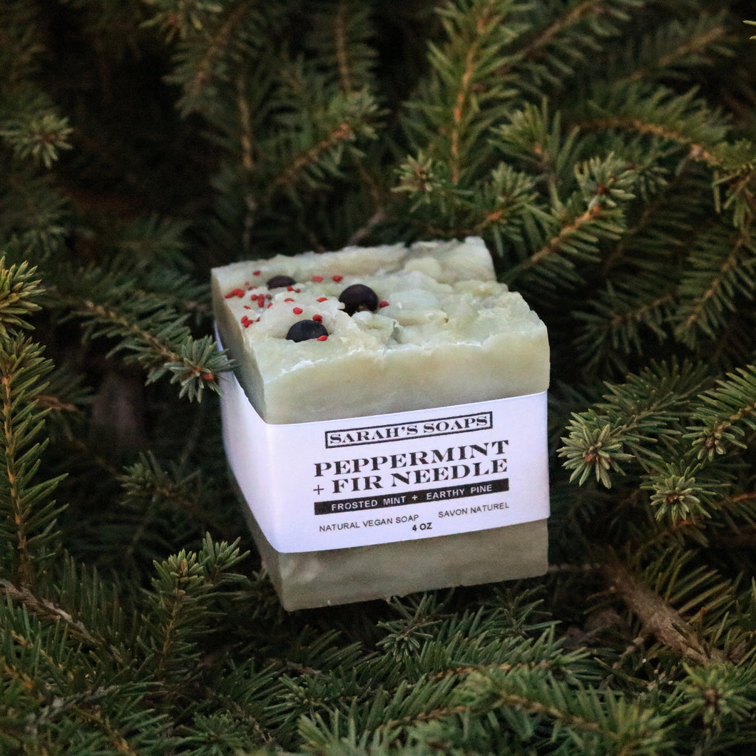 PEPPERMINT + FIR NEEDLE - bar soap