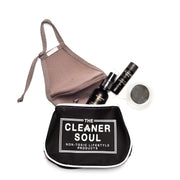Make Up Bag with mirror attached, wipeable and waterproof! - The Cleaner Soul