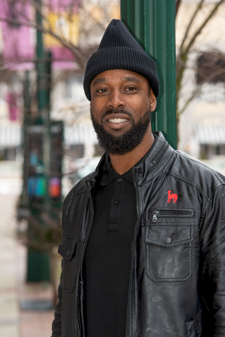 Black Man in Satin Lined Hat