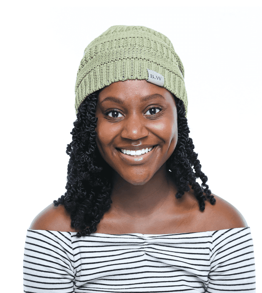 Winter Hat | Satin Lined | Natural Hair | Ultra Violet Olive