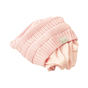 Winter Hat | Satin Lined | Natural Hair | Pink Beanie - Beautifully Warm, LLC