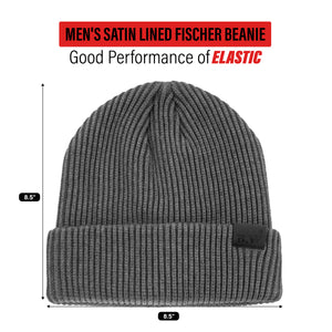 Men's Satin Lined Fischer Cap - Grey