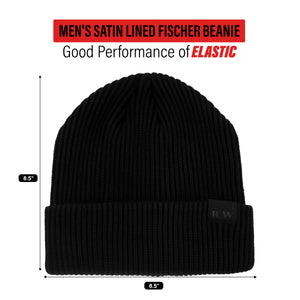 Satin Lined Black Fischer Cap by Beautifully Warm
